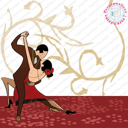 "illustration de Faire-parts Mariage ""Tango"""