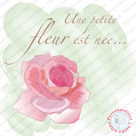 "illustration de Faire-parts ""Perle Rose"""