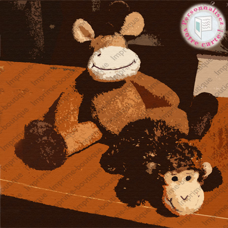"illustration de Faire-parts ""peluches 2"""
