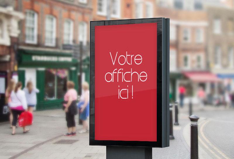 impression affiche publicitaire pas cher à l'unité et petite quantité