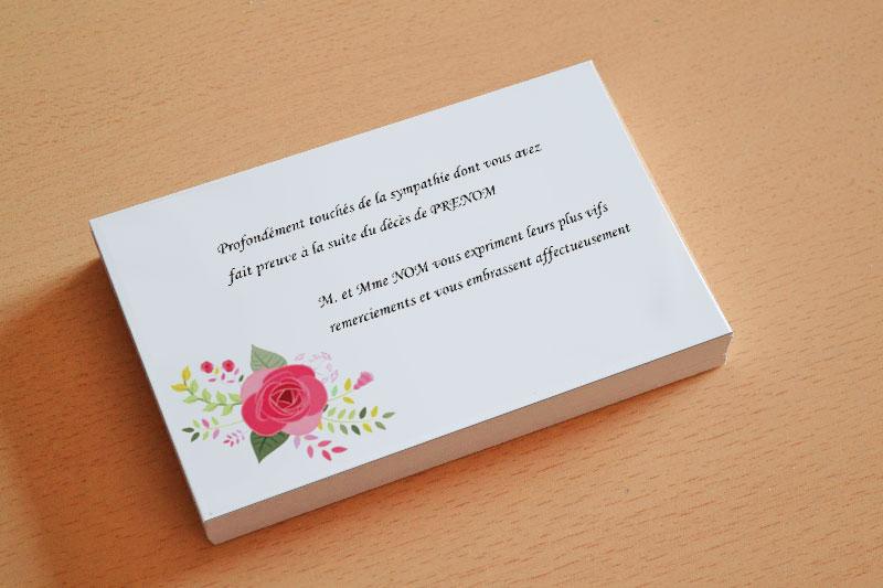 Imprimer Carte De Remerciement Deuil Deces Obseques Avec Fleur