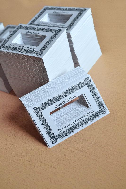 Impression Pas Chre Carte De Visite Originale Avec Dcoupe Spciale Forme Cadre Tableau