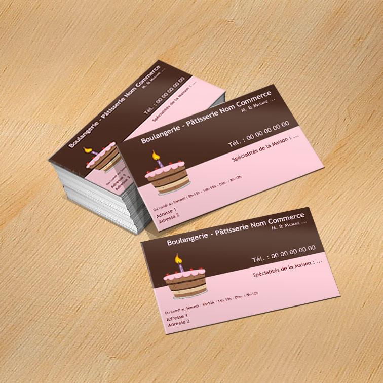 Patisserie Modele Carte De Visite Gratuit A Imprimer