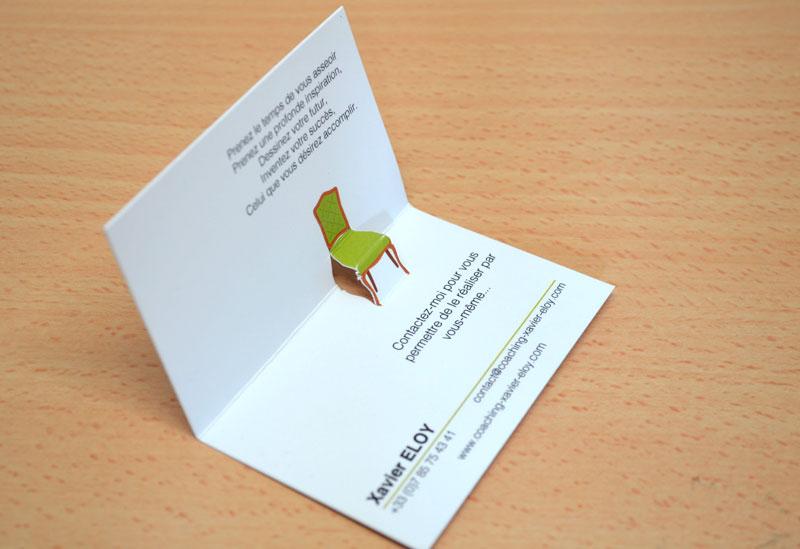Impression Pas Chre Carte De Visite Originale En Ligne Avec Dcoupe Spciale Forme Chaise