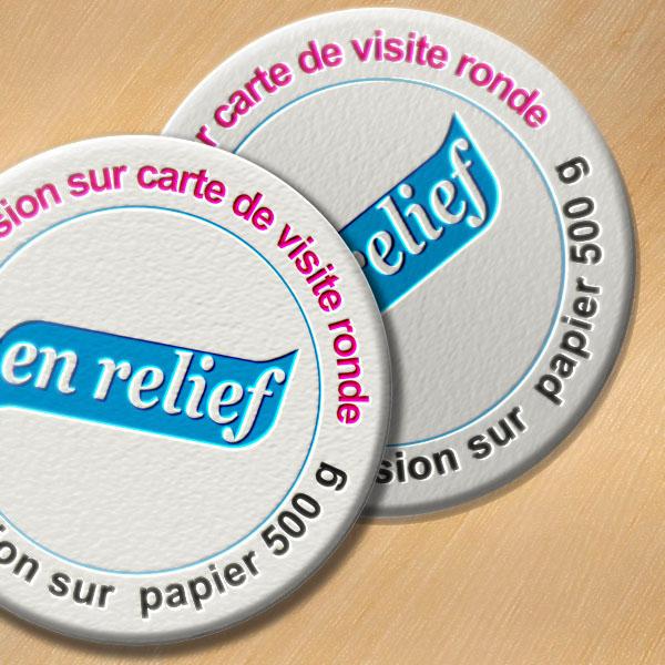 Favori Carte de visite ronde en relief | LetterPRESS | papier 500g DI71
