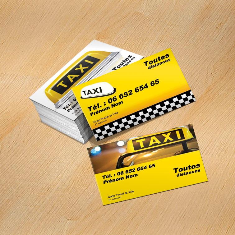 carte de visite taxi  u0026 vtc