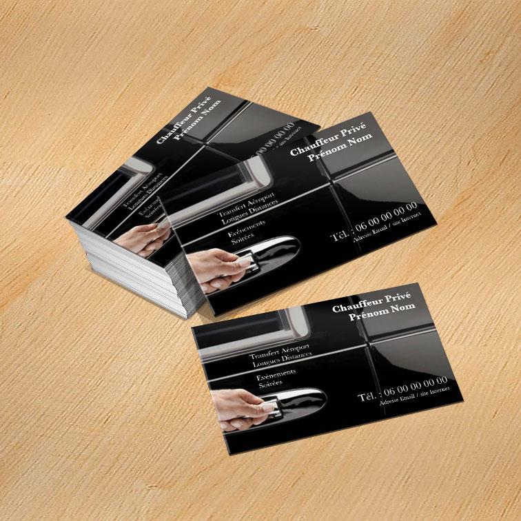 Exemple De Modle Carte Visite VTC Imprim Par ImprimeBoutique
