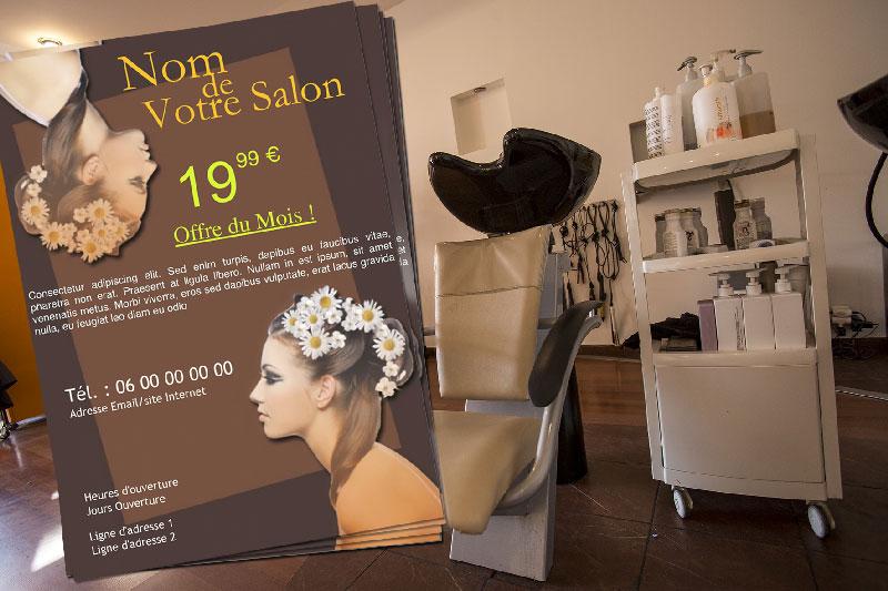 Modele Flyer Salon Coiffure Modele Gratuit Pour Slogan Publicitaire