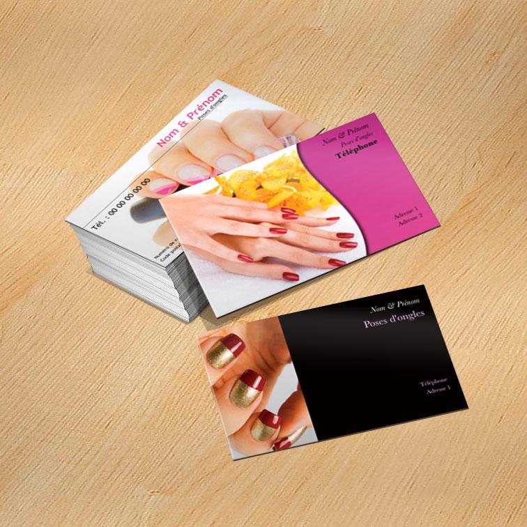 Exemple De Modles Cartes Visite Onglerie Manucure Et Soin Des Mains