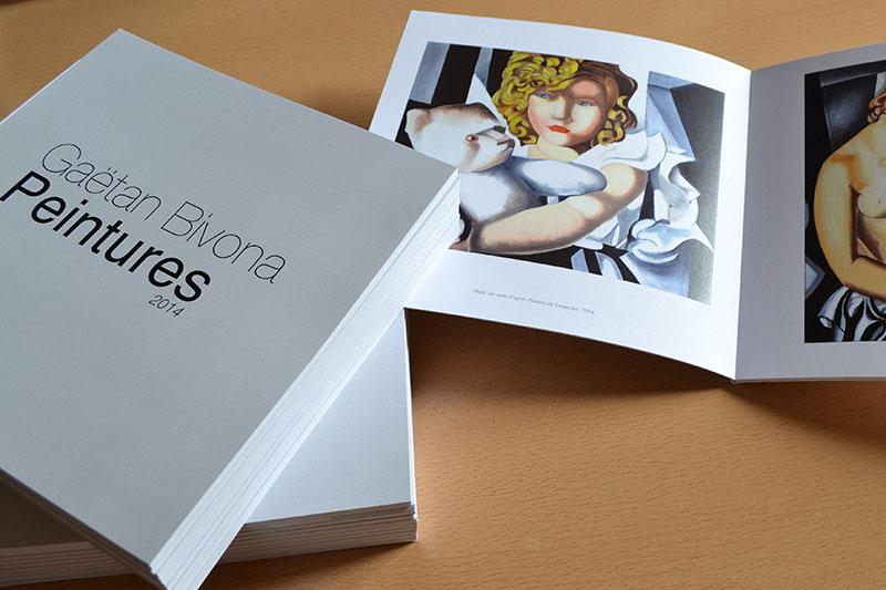impression Book graphiste peintre pas cher, impression petit livre en petite quantité pas cher