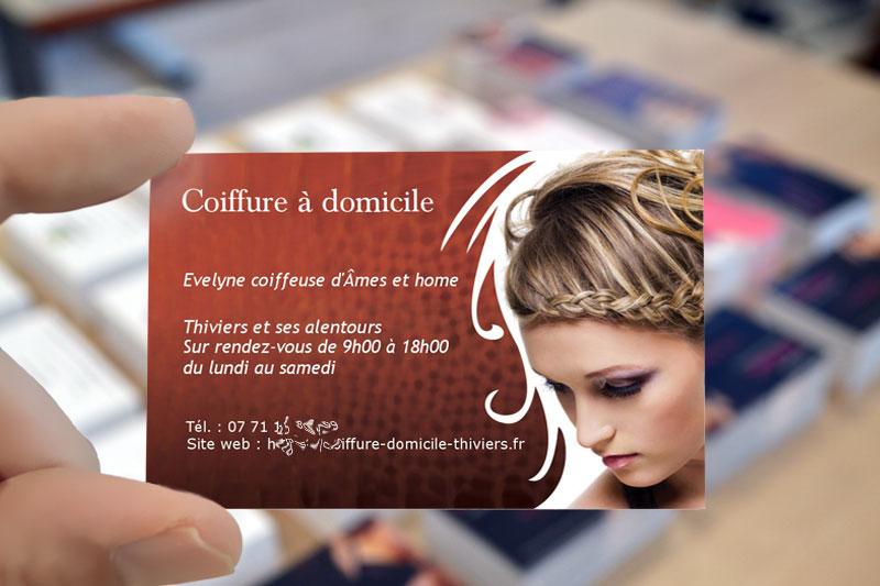 Metier De La Coiffure Carte Visite Avec Simulation En Ligne Pour Personnalisation
