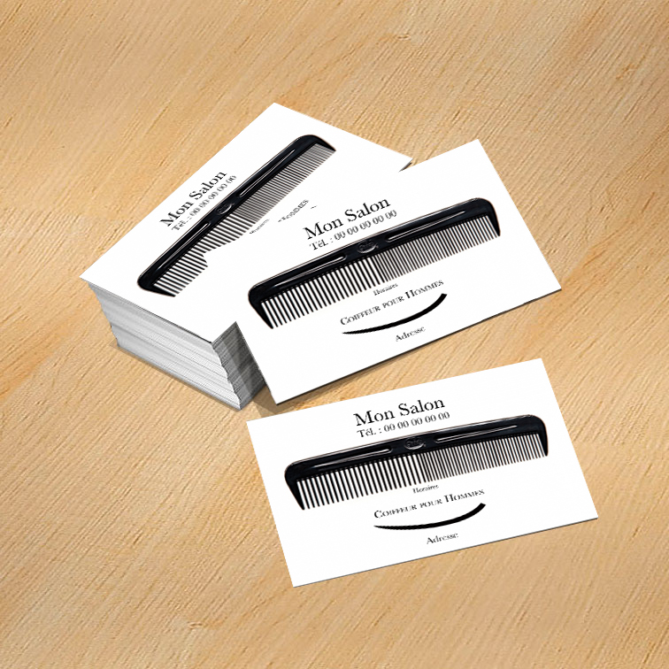 Carte de visite coiffure homme mod le gratuit imprimer peigne - Modele de coiffure homme ...