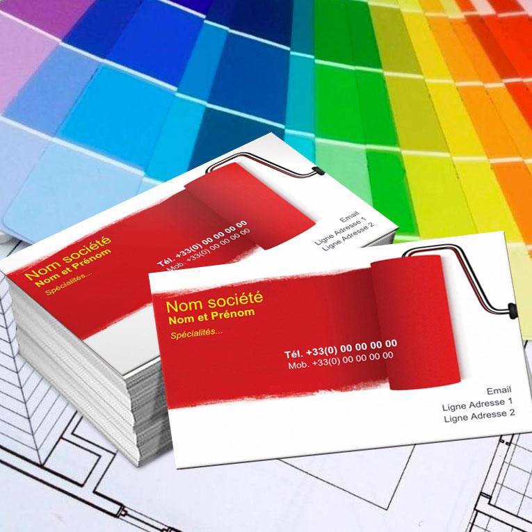 Modele Et Exemple De Carte Visite Peintre Decorateur