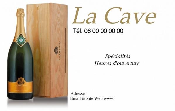 Modle Carte De Visite Pour Caviste