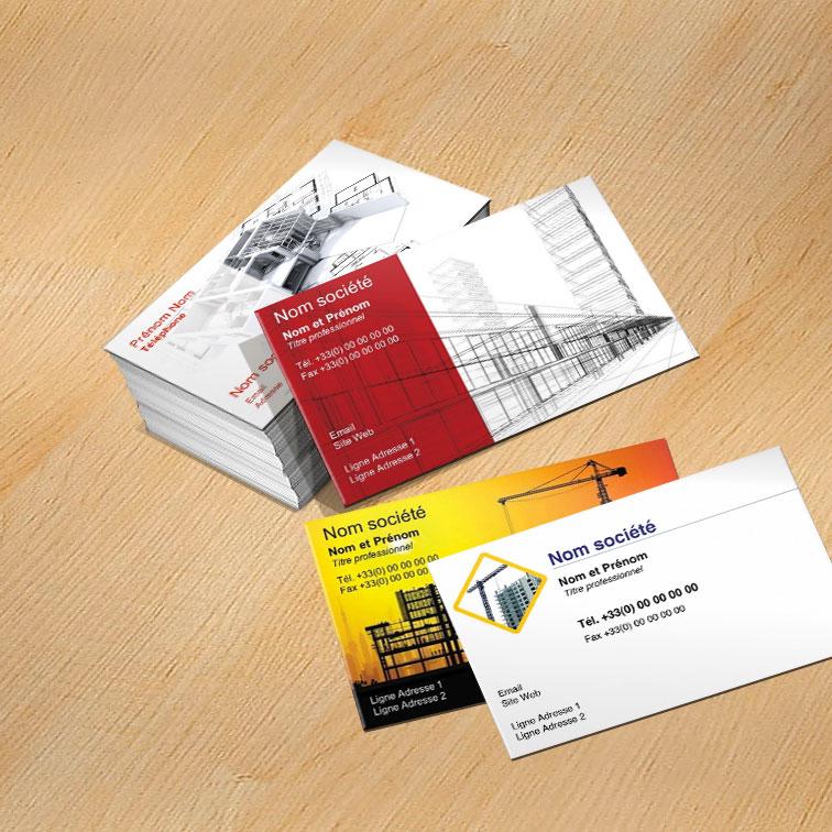 Mod le carte de visite construction personnaliser carte for Carte visite construction