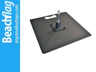 Pied embase carrée plate pas cher