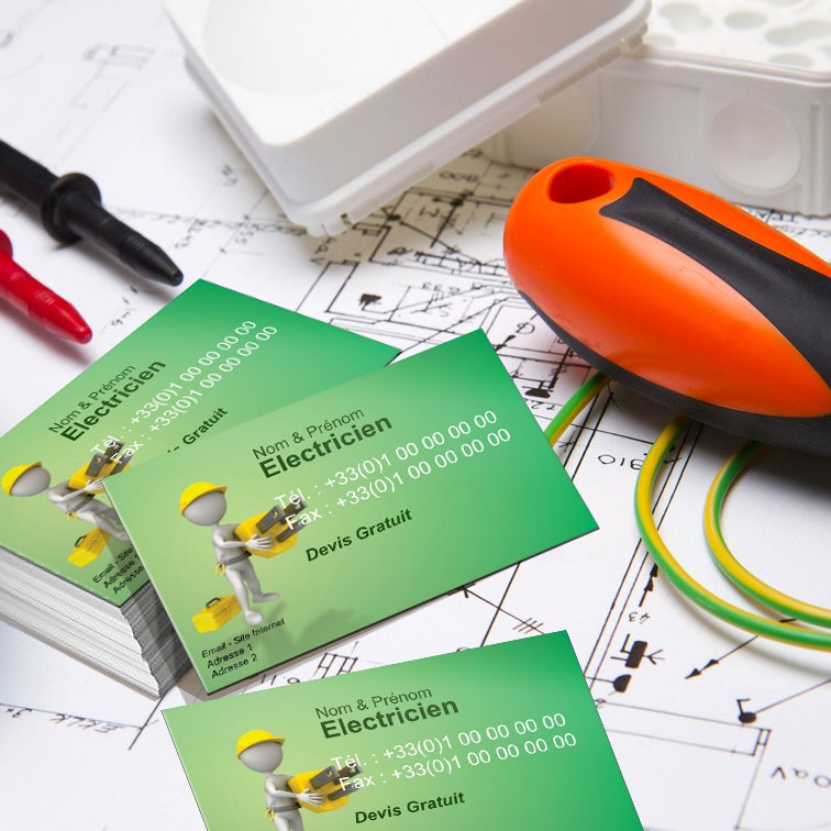 Modele Carte De Visite Electricien A Personnaliser
