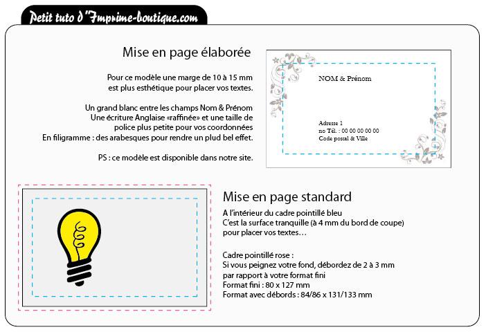 Tutoriel En Libre Partage Pour Imprimer Votre Carte De Visite Familiale