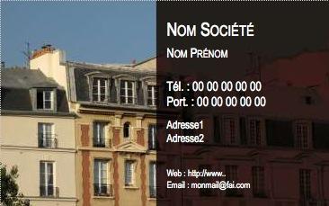 Professionnels Modele Carte De Visite Agence Immobiliere Impression Pas Chere A Personnaliser En Ligne Gratuit