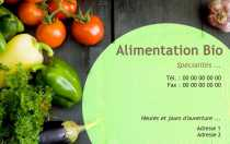 Exemple Carte De Visite Alimentation Bio Professionnel Gratuite Familiale Avec