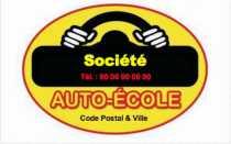 Modele Carte De Visite Auto Ecole Pour Moto A Personnaliser En