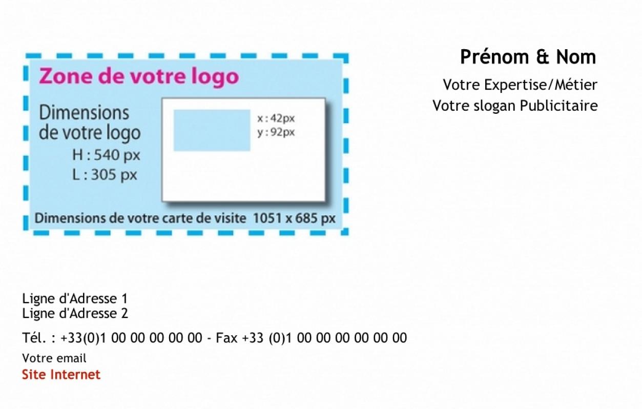 Exemple carte de visite professionnelle avec logo align e droite - Carte de visite gratuite sans frais de port ...