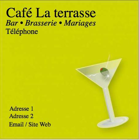 Cafe Modele Carte De Visite Carree Du Commerce Gratuit Avec Impression Pas Chere Ou Telechargement