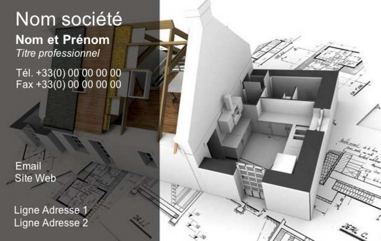 Maison Architecture Exemple Carte De Visite Professionnelle Et Originale Personnaliser En Ligne Avec Impression Pas Chre Ou Tlchargement Gratuit