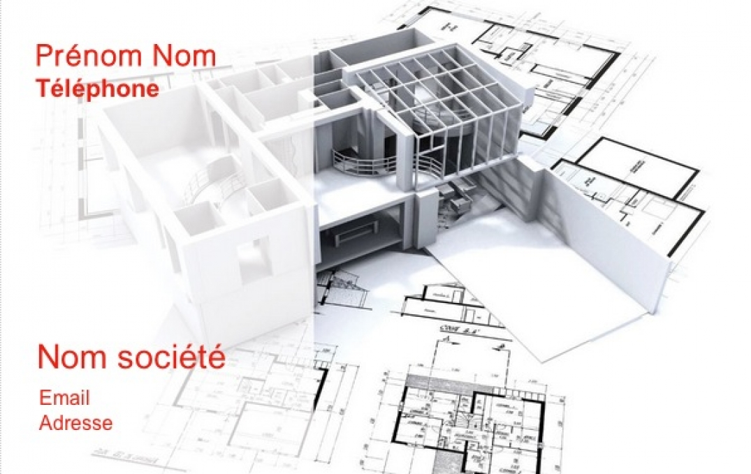 Carte de visite construction b timent architecte fond plan for Plan de construction en ligne