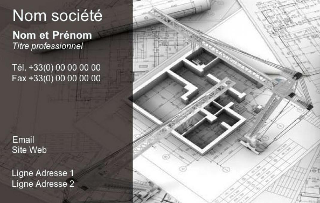 Modele Carte De Visite Originale Construction Architecte Professionnel A Personnaliser En Ligne Avec Impression Pas Chere Ou Telechargement Gratuit