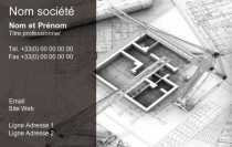 Modele Carte De Visite Construction Pour Batiment Architecte Maison Conception A