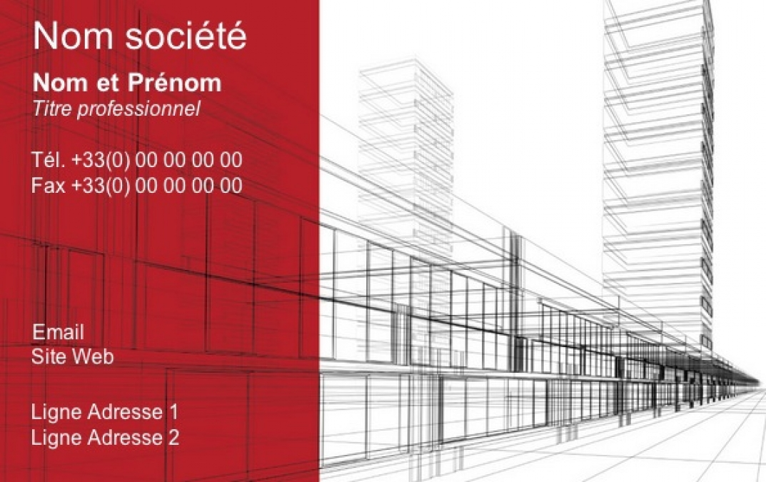 Carte de visite construction b timent architecte - Site d architecture gratuit ...