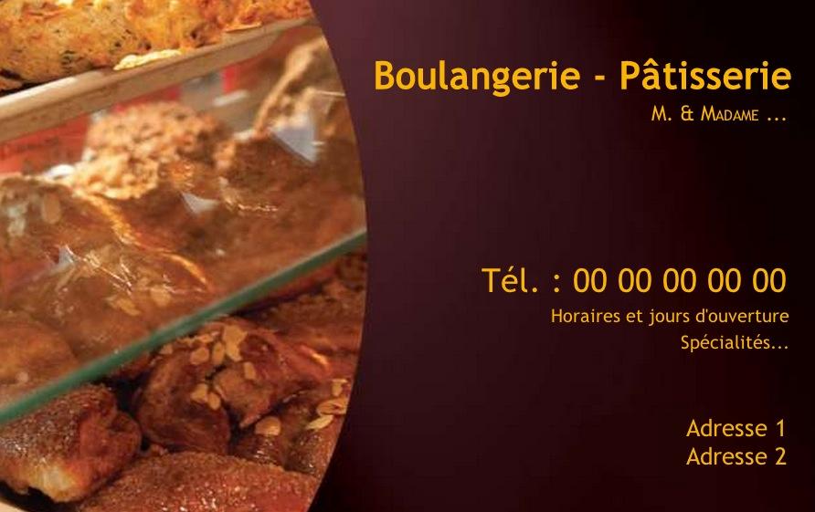 81 Carte De Visite Pour Boulangerie Patisserie