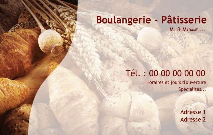 Modle Boulangerie Et Ptisserie Carte De Visite Pour Commerce Boulanger Ptissier Gratuit Avec Impression Pas Chre Ou