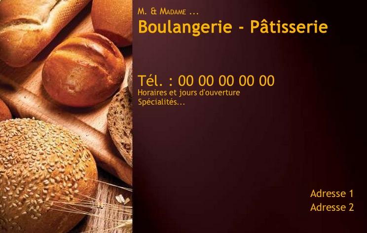 Boulanger Et Patissier Carte De Visite Pour Commerce Modele Gratuit Avec Impression Pas Chere Ou Telechargement