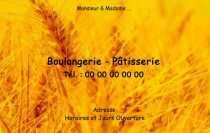 Tlcharger Carte De Visite Boulangerie Professionnel 82x128 Personnalise Avec Exemple