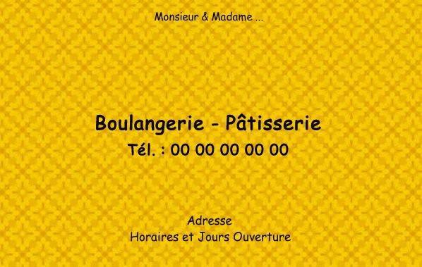 Carte Boulangerie.Carte De Visite Boulangerie Modele Gratuit A Imprimer Motif