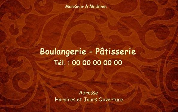 Boulangerie Et Patisserie Carte De Visite Pour Commerce Boulanger Patissier Modele Classe Gratuit Avec Impression Pas Chere Ou