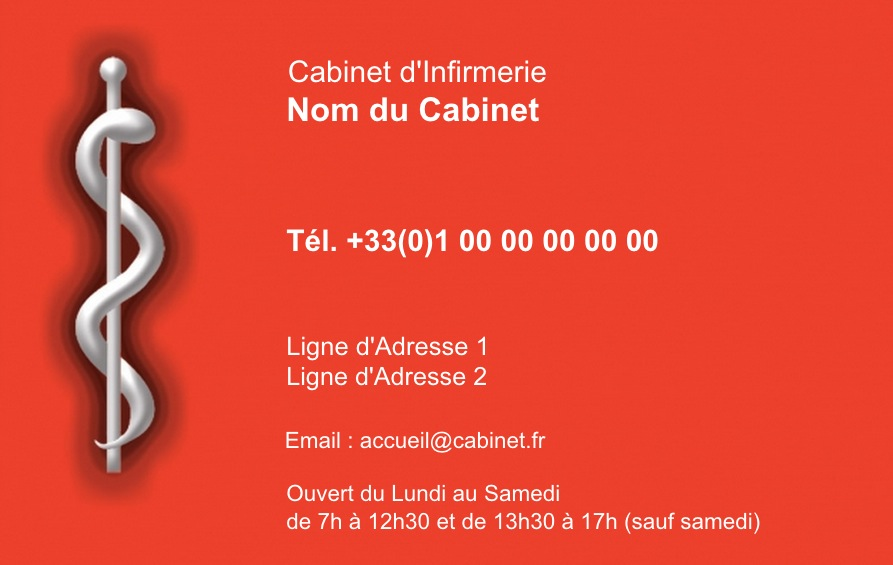 Infirmier Infirmire Domicile Carte De Visite Librale Modle Gratuit Originale Et Pas Chre Personnaliser En Ligne