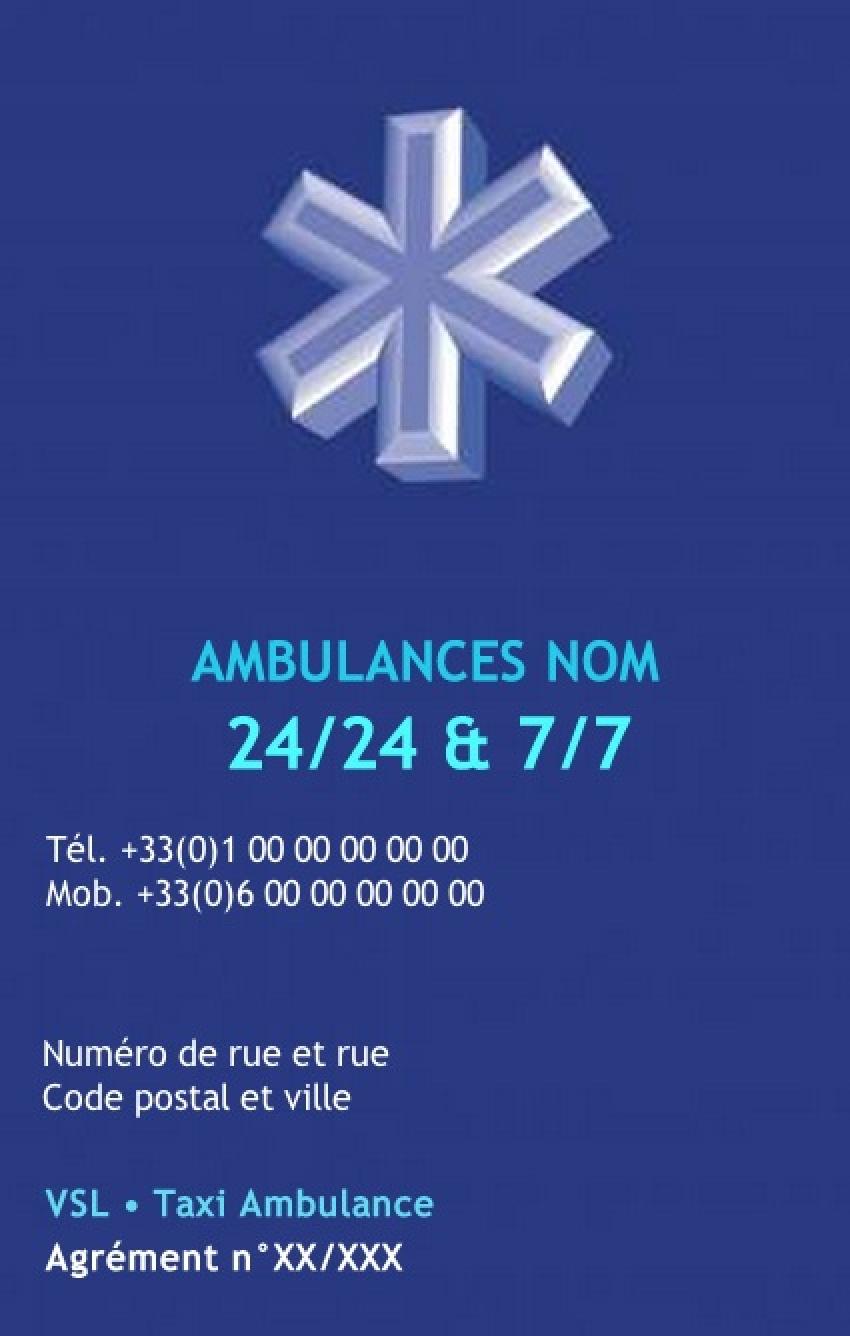 Ambulancier Carte De Visite Ambulance Professionnel Sante Exemple Pas Cher Avec Modele En Ligne Gratuit A Imprimer Chez Soicher