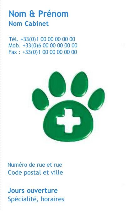 Veterinaire Clinique Animaux Domestiques Ou Sauvages Exemple Carte De Visite Soin Impression Pas Chere