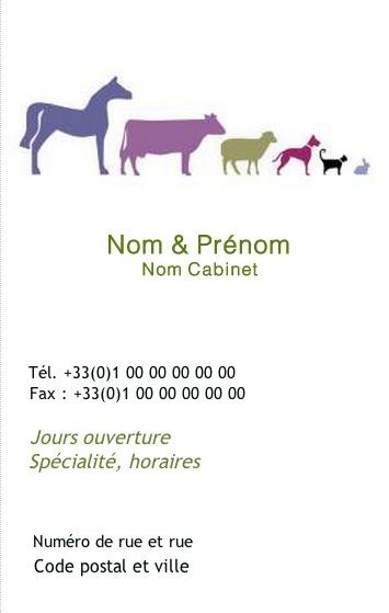 Cabinet Veterinaire Clinique Animale Modele Carte De Visite Pas Chere Professionnel A La Ferme Gratuit Personnaliser Et