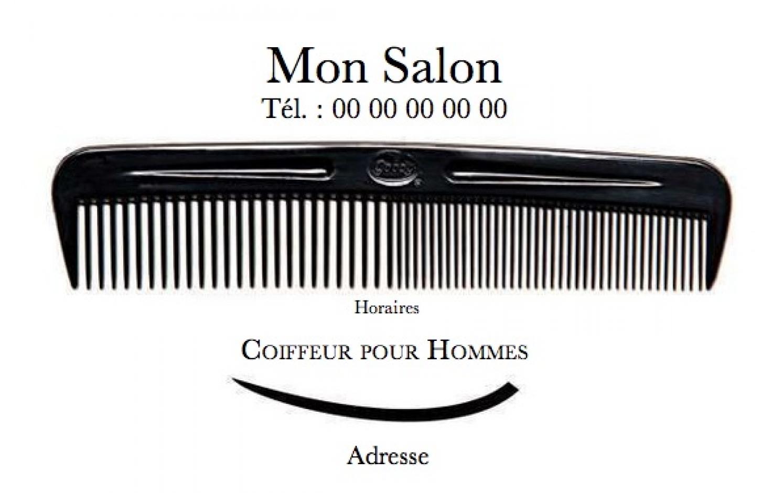 Salon Coiffure Pour Homme Carte De Visite Modele Professionnel Gratuit A Personnaliser En Ligne Avec Impression Pas Chere Ou