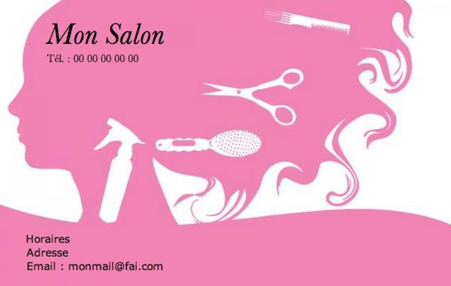 Coiffure Femme Carte De Visite Pour Salon A Domicile Modele Professionnelle Gratuit Personnaliser En Ligne Avec Impression