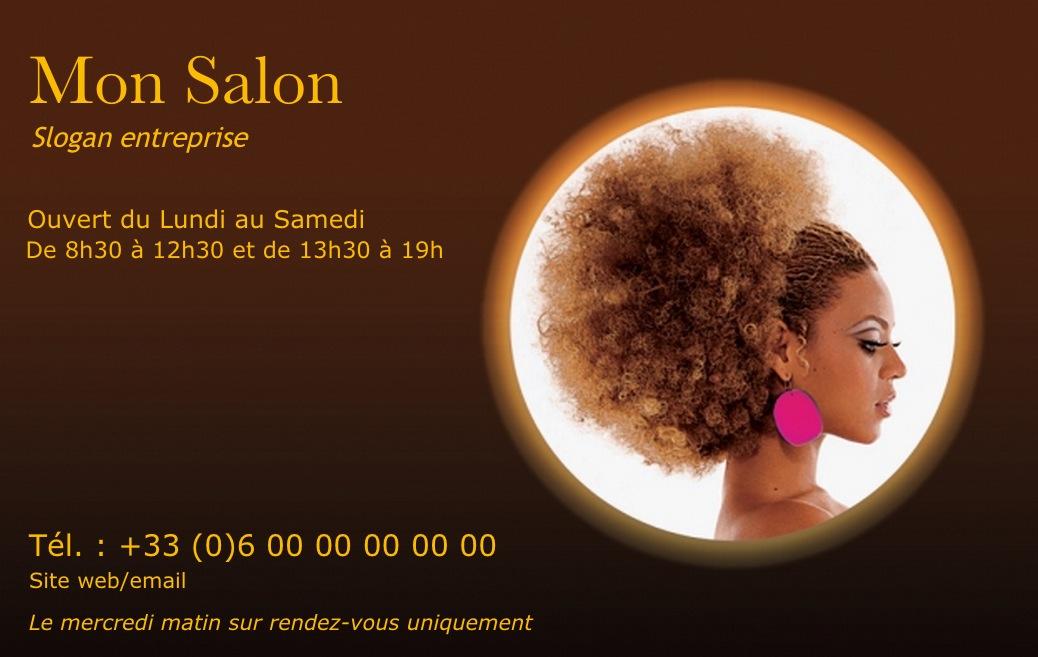 carte de visite coiffure africaine mod le gratuit et. Black Bedroom Furniture Sets. Home Design Ideas