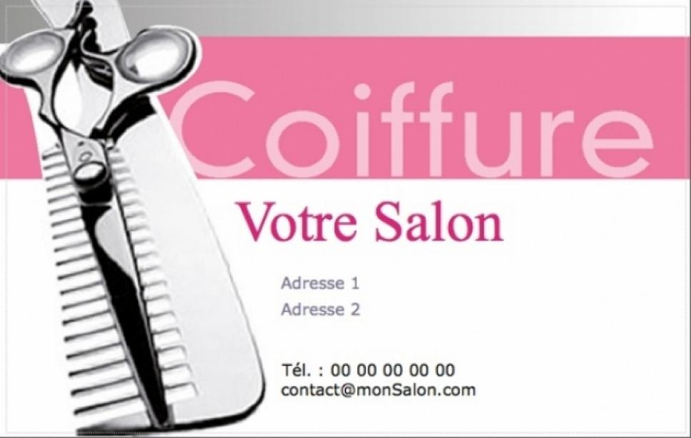Coiffure A Domicile Carte De Visite Modele Professionnel Gratuit Personnaliser Avec Impression Pas Chere Ou Telechargement