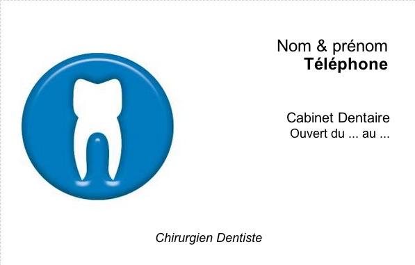 Dentiste Chirurgien Carte De Visite Professionnelle Modele A Personnaliser En Ligne Avec Impression Pas Chere Ou