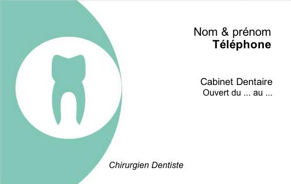 Dentiste Chirurgien Carte De Visite Professionnelle Exemple Original A Personnaliser En Ligne Avec Impression Pas Chere