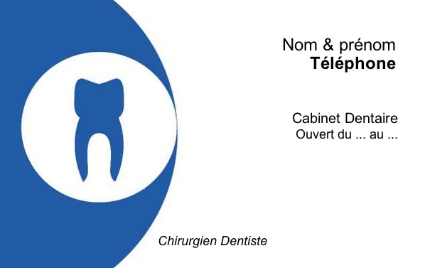 carte de visite dentiste  mod u00e8le professionnel  u00e0 imprimer