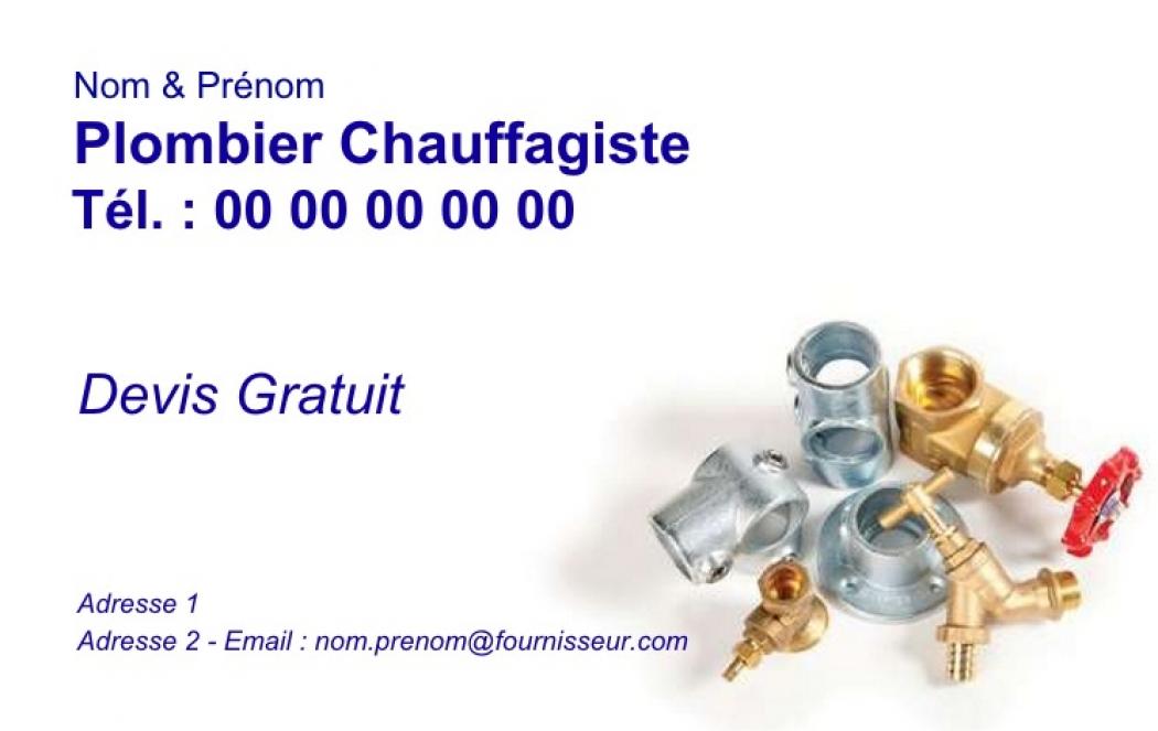 Depannage Plomberie Exemple Carte De Visite Plombier Chauffagiste Modele Gratuit A Personnaliser En Ligne Pas Chere